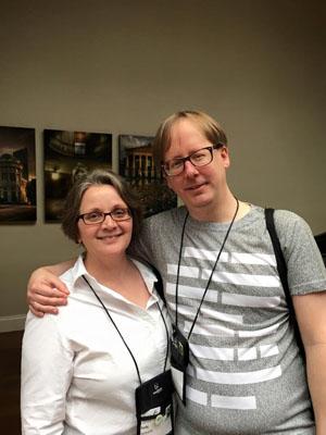 Judy Bobalik and myself (photo by Amanda Kyle Williams)